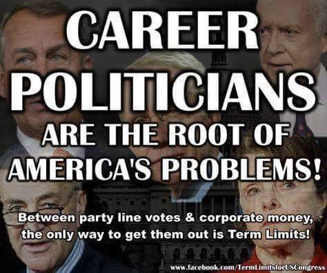 Career Politicians are the root of America's problems