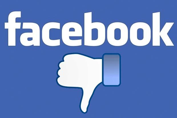 Facebook tumb down