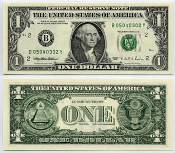 One dolar bill