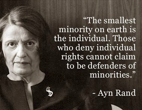 The smallest minority on earth is the individual