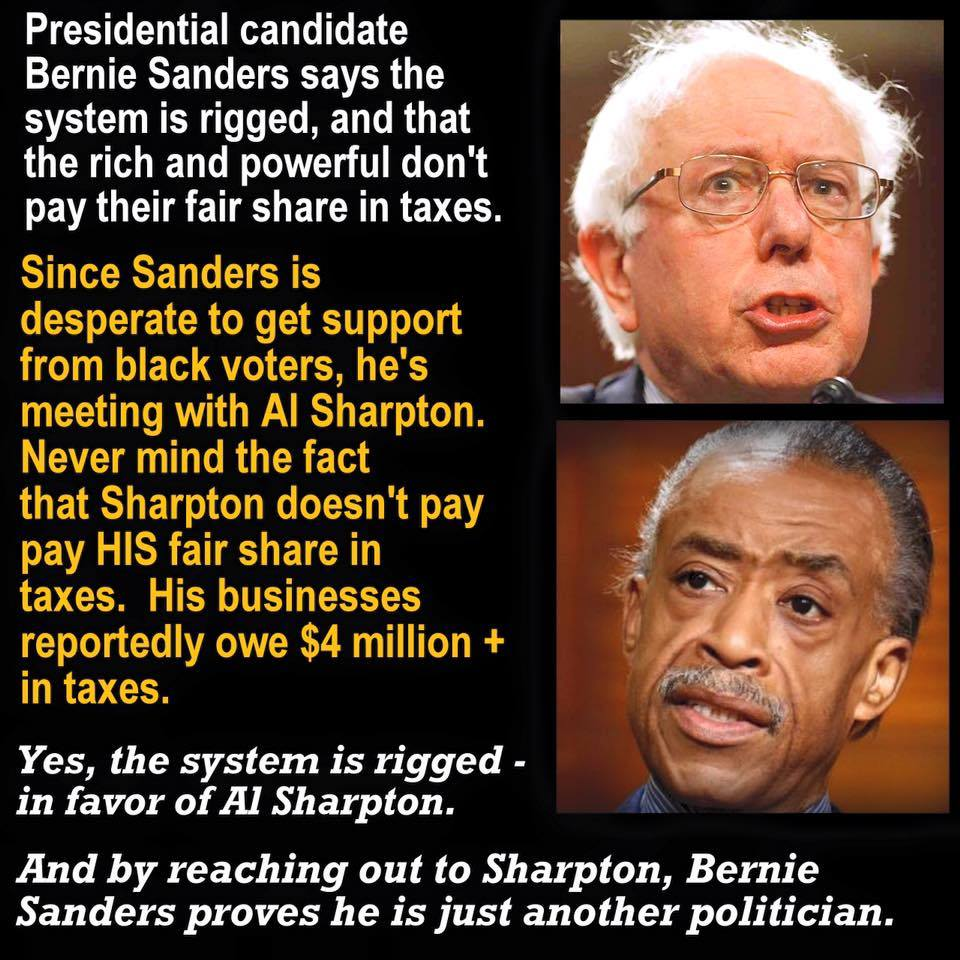 Sanders reach out to Sharpton